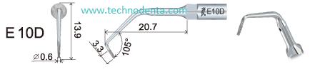 Накрайник за пиезон E10D