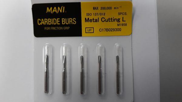 Mani metal cutting burs