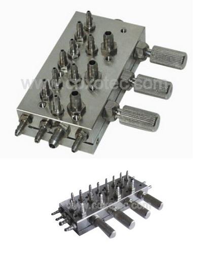 пневматичен блок за три и четири инструмента